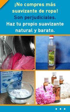 ¡No compres más suavizante de ropa! Son perjudiciales. Haz tu propio suavizante natural y barato. #lavar #suavizante #ropa #natural #diy