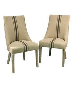Look at this #zulilyfind! Wright Linen Side Chair - Set of Two #zulilyfinds