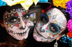 Girls in facepaint in Real del Monte on the 'Day of the Dead' on November 2014 in Hidalgo,Mexico. The Royal Couple are on the first day of a four day visit to Mexico as part of a Royal tour to. Get premium, high resolution news photos at Getty Images Mexico Day Of The Dead, All Souls Day, Celebration Around The World, Cultural Appropriation, Tikal, 31 Days Of Halloween, Halloween 2017, Costume Halloween, Halloween Celebration