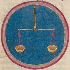 Zodiac sign of Libra in a 15th century manuscript by e-codices, via Flickr