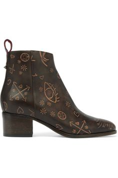 VALENTINO Embossed leather ankle boots  $1,495.00 https://www.net-a-porter.com/product/808153