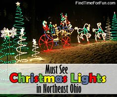 Must see Christmas Light Displays in Northeast Ohio. Community light displays & houses with of Christmas lights set to Music. Christmas Date, All Things Christmas, Winter Christmas, Winter Holidays, Xmas, Christmas Light Installation, Christmas Light Displays, Christmas Lights, Christmas Activities