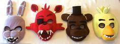 Five Nights At Freddy's FNAF Masks: Bonnie, Foxy, Freddy & Chica