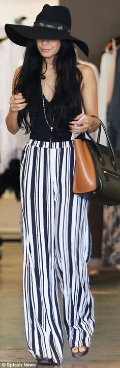 Backless boho style: Vanessa Hudgens showed off her sculpted figure in a revealing bodysui...