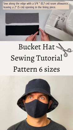 Hat Patterns To Sew, Sewing Patterns Free, Sewing Tutorials, Pattern Sewing, Sewing Clothes, Diy Clothes, Diy Fashion Hacks, Wie Macht Man, Sewing Basics