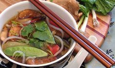 Snow peas, Rice noodles and Chicken noodle soups on Pinterest