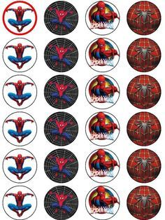 Resource image intended for free printable cupcake wrappers and toppers with spiderman