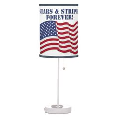 STARS & STRIPES FOREVER! TABLE LAMP   •   This design is available on t-shirts, hats, mugs, buttons, key chains and much more   •   Please check out our others designs at: www.zazzle.com/ZuzusFunHouse*