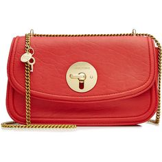 See by Chloé Leather Shoulder Bag ($230) ❤ liked on Polyvore featuring bags, handbags, shoulder bags, red, real leather purses, shoulder bag purse, leather flap handbags, red leather handbags and leather purses