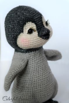 Der kleine Pinguin ++ Schal ++ eigenem kleinen Kuschelbären freut sich darauf, von Dir gehäkelt zu werden. Probiers aus mit dem PDF zum sofortigen Download.