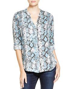 Soft Joie Dane Snakeskin Print Shirt | Bloomingdale's