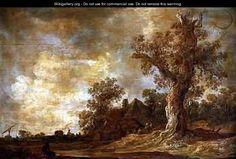 Jan van Goyen - Wooded landscape with figures and oak tree