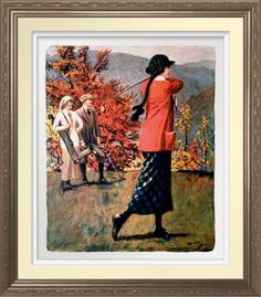 1916 Golfer - Vintage Art Print On Canvas. Vintage Golfing illustration reproduced on Premium Canvas. The gift for the golfer http://www.zazzle.com/1916_golfer_vintage_art_print_on_canvas-228177215250471732 #golf #art #giftforher #print