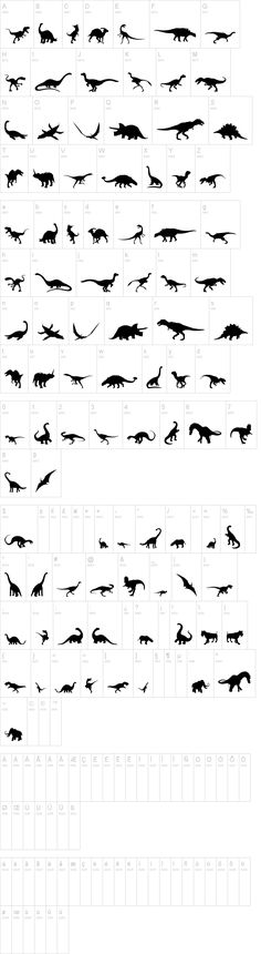 Free dinosaur font- I have no idea if I would ever use this but it looks pretty cool! Free dinosaur font- I have no idea if I would ever use this but it looks pretty cool! Dinosaur Party, Dinosaur Birthday, Dinosaur Outline, Dinosaur Silhouette, Cute Dinosaur, Trendy Tattoos, Small Tattoos, Tattoo Ideas, Rose Tattoos