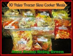 Save Green Being Green: Make It Monday: 10 Paleo Freezer Slow Cooker Meals & Review of Savvy Livings Professional Knife