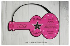 Rock and Roll Guitar Invite Guitar Invitation  Music Birthday by palmbeachpolkadots on Etsy