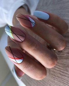 Beautiful Manicure Nails For Short Nails Design Ideas -Square & Almond Nails - - Square & Almond Nails -Short nails design, short acrylic nails, short square nails, short coffin na - Almond Acrylic Nails, Cute Acrylic Nails, Cute Nails, Pretty Nails, Maroon Nail Designs, Short Nail Designs, Nail Manicure, Gel Nails, Nail Polish