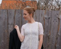 Look of the day: White Lace Dress