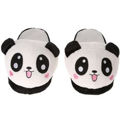 Anself Lovely Cute Panda Women Female Winter Warm Slippers Soft Plush Anti-skid Indoor Home Cotton Slipper Shoes Sales Online - Tomtop Niedlicher Panda, Cute Panda, Panda Mignon, Panda Lindo, Cute Slippers, Fur Boots, Womens Slippers, Hello Kitty, Baby Shoes