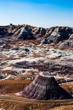 Painted Desert within the Petrified Forest National Park, AZ