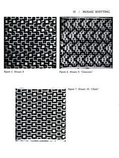 Mosaico Knitting Barbara G. Walker (Lenivii gakkard) Mosaico Knitting Barbara G. Walker (Lenivii gakkard) # 21