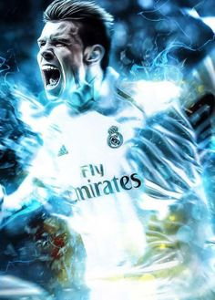 Fifa 14 promotional poster & Gareth Bale X Real Madrid C.Will be doing a Mesut Özil poster next! Gareth Bale, Good Soccer Players, Soccer Fans, Football Players, Real Madrid Club, Real Madrid Players, Madrid Football Club, Best Football Team, Bale Real
