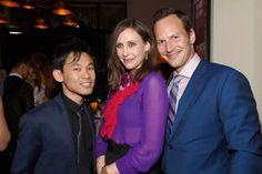 Vera Farmiga, Patrick Wilson, and James Wan at Conjuring 2 (2016)