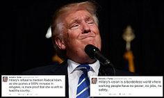Donald Trump slams Hillary's failure to mention radical Islam in Twitter tirade | Daily Mail Online