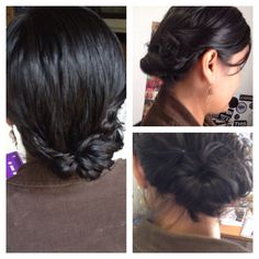 Bottom updo for short/medium hair very easy to make and it looks gorgeous