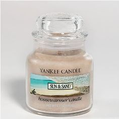 Yankee Candle Small Sun and Sand Jar Candle 1107093: Amazon.co.uk: Health & Personal Care