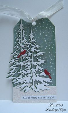 I like how the cardinals stand out in this tag; beautiful!