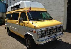 Diy Camper, Rv Campers, Happy Campers, Chevrolet Van, Chevy Van, Class B Camper Van, Gmc Vans, Betty Boop Cartoon, Bus Life