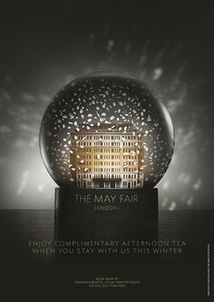 The Mayfair Hotel by Jonathan Knowles Studio , via Behance Christmas Poster, Christmas Ad, Ads Creative, Creative Advertising, Hotel Ads, Christmas Graphic Design, Property Ad, Modern City, Crystal Ball