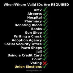 And the most vehement opponent of voter ID?  The union!  - HINT:  check out the University of California  janitorial services group, for example:  http://pinterest.com/pin/268316090269531754/