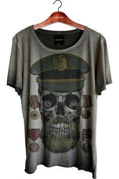 Camiseta Relax - Skull Sailor 100% algodão   CHRISTOFF Loja online Shirt Print Design, Shirt Designs, Camisa Tie Dye, Boys T Shirts, T Shirts For Women, Look Man, Men Closet, T Shirt World, Cool Graphic Tees