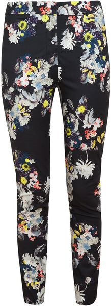 Eames Floral Printed Twill Trousers - Lyst
