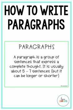 Writing Paragraphs: A Step by Step Guide This strategy for writing paragraphs will transform your writing instruction! This scaffolded lesson teaches students how to write effective Essay Writing Skills, English Writing Skills, Essay Writing Tips, Writing Words, Writing Lessons, Academic Writing, Teaching Writing, Fiction Writing, Writing A Book