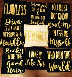 Beyonce bachelorette party tanks / bachelorette party favors / fast shipping