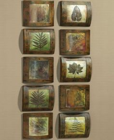 Collaged leaves and beautiful frames