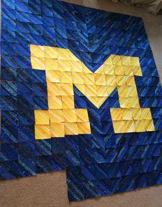 University of Michigan Quilt Kit ~ I really like this pattern. I ... : michigan quilt shows - Adamdwight.com