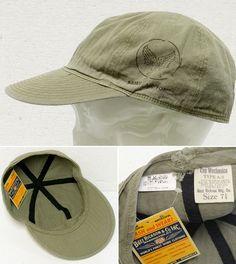 BUZZ RICKSON'S(バズリクソンズ)HERRINGBONE(ヘリンボーン)A-3 CAP/br01791