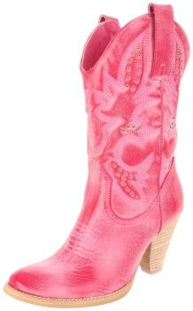 trendy pink cowgirl boots