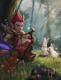 m Gnome Bard Harp rabbits forest hills farmland mountains underdark Moment of peace by Azaggon on DeviantArt Fantasy Races, Fantasy Warrior, Fantasy Rpg, Medieval Fantasy, Blond Amsterdam, Dungeons And Dragons Characters, Dnd Characters, Fantasy Characters, Cthulhu