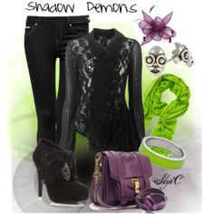 Shadow Demons Inspired Outfit (Princess and the Frog)