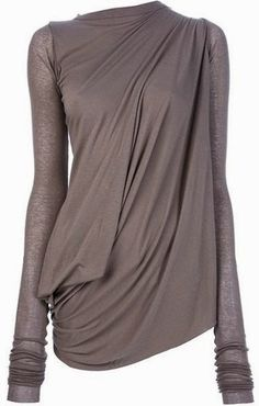 I love how feminine and effortless a great drape can look! ... Rick Owens Lilies Drape Top