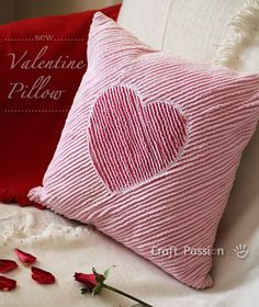 Sew a heart chenille valentine pillow to decorate a romantic corner at home. This chenille valentine pillow is soft & fluffy, nice to touch & warm to hug. – Page 2 of 2 Pillow Crafts, Fabric Crafts, Sewing Crafts, Sewing Projects, Chenille Quilt, Rag Quilt, Quilts, Sewing Pillows, Diy Pillows