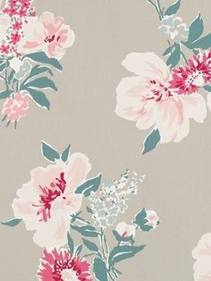 """Madcap Cottage Isleboro Eve Oyster - Madcap Cottage Fabric - Floral print fabric for window treatments, upholstery or top of the bed. 100% cotton. Repeat: H 27"""" x V 25.25"""". Durable 15,000 double rubs. 54"""" wide."""