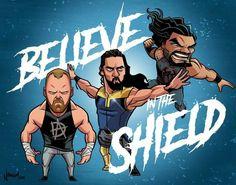 The Shield by Nolan Harris Wrestling Superstars, Wrestling Wwe, Wrestling Stars, Sport Motivation, South Park, Power Rangers, Roman Regins, The Shield Wwe, Avatar