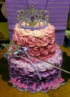 Princess Ombre Swirls Cake