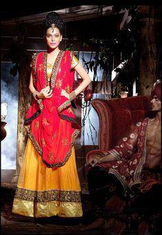 Lehenga Fabric -Net Choli Fabric - Metty Gotta Dupatta Fabric -Georgette Lehenga Length- 2.75mtr Choli Size -0.80 mtr Dupatta Size - 2.25 mtr Lehenga Type